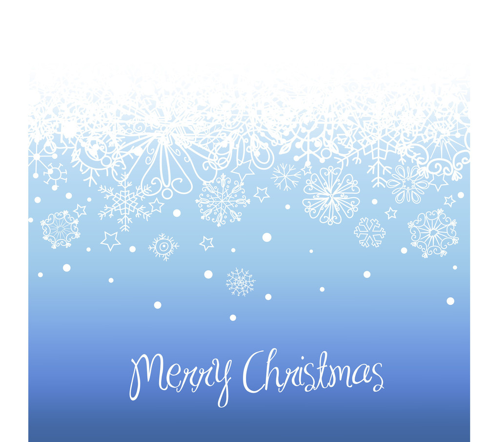 Blue Christmas Background With Space For Text.-