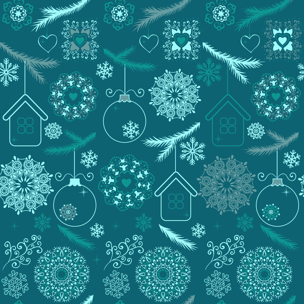blue christmas seamless pattern with snowflakes on white royalty