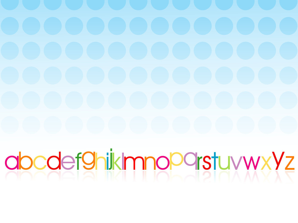 Blue Circle Background With Alphabet