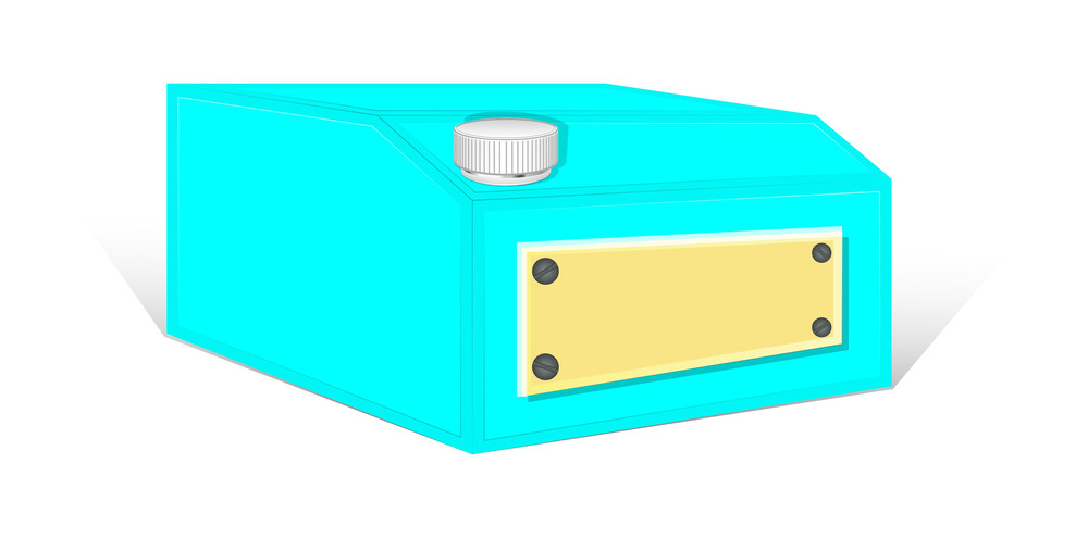 Blue Container Vector
