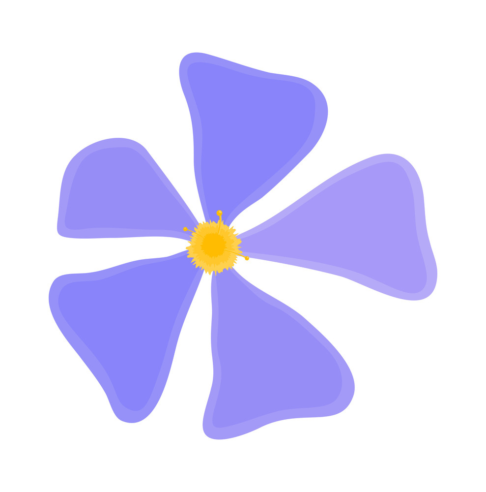 Blue Daisy Element