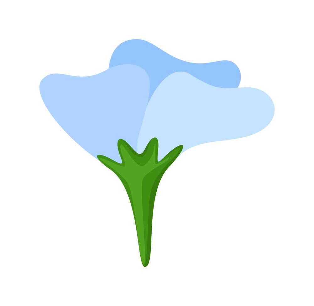 Blue Daisy Shape Design