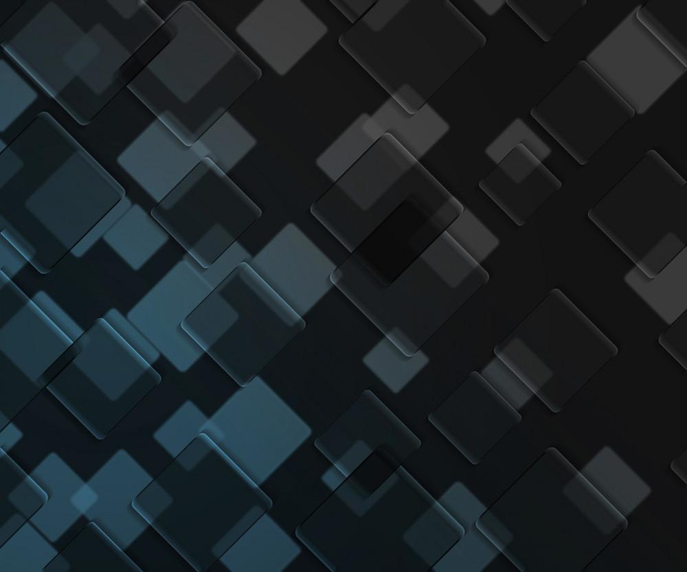 Blue Dark Squares Background