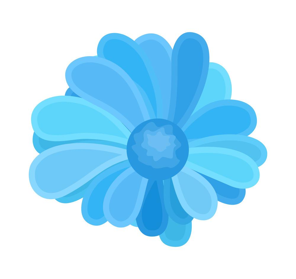 Blue Decorative Flower