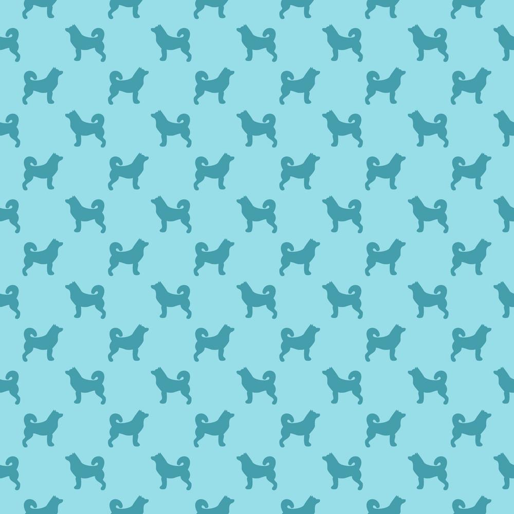 Blue Dog Pattern