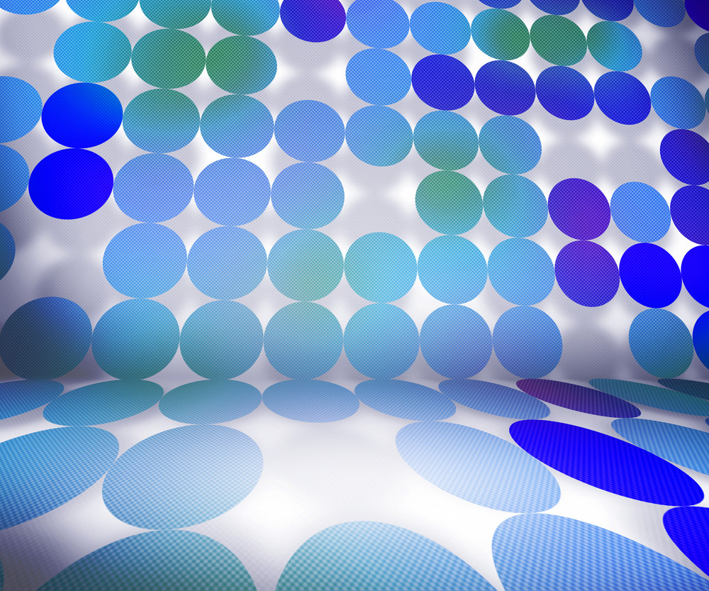 Blue Dots Stage Background