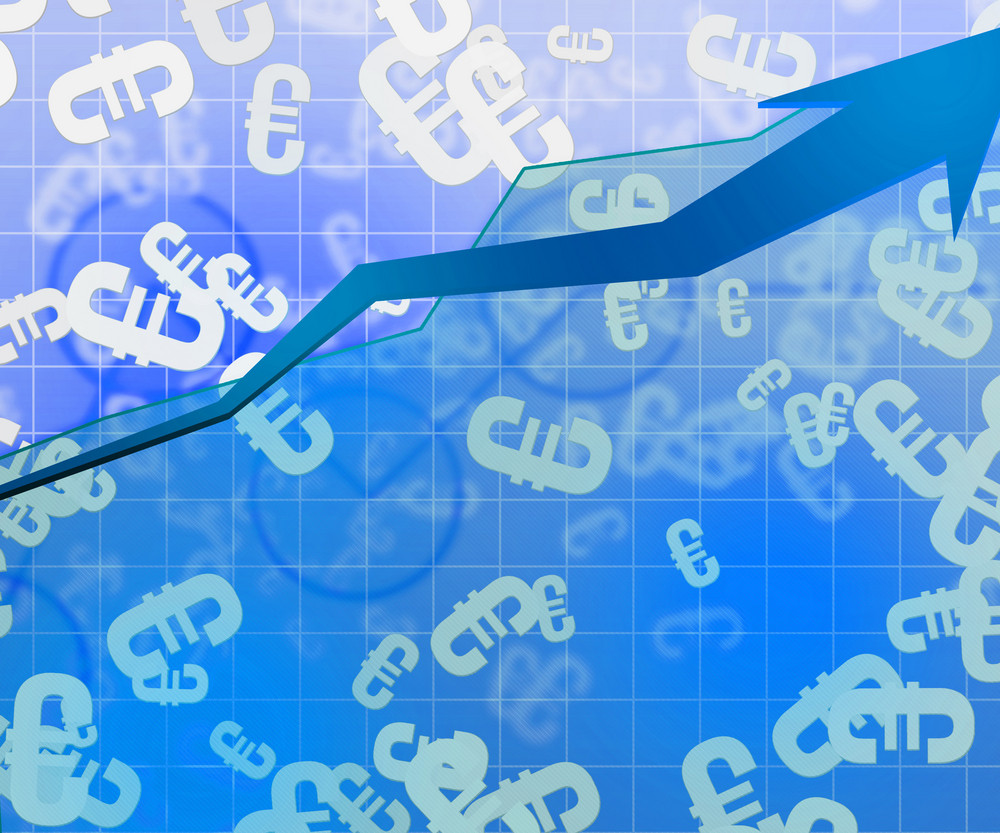 Blue Euro Economic Background