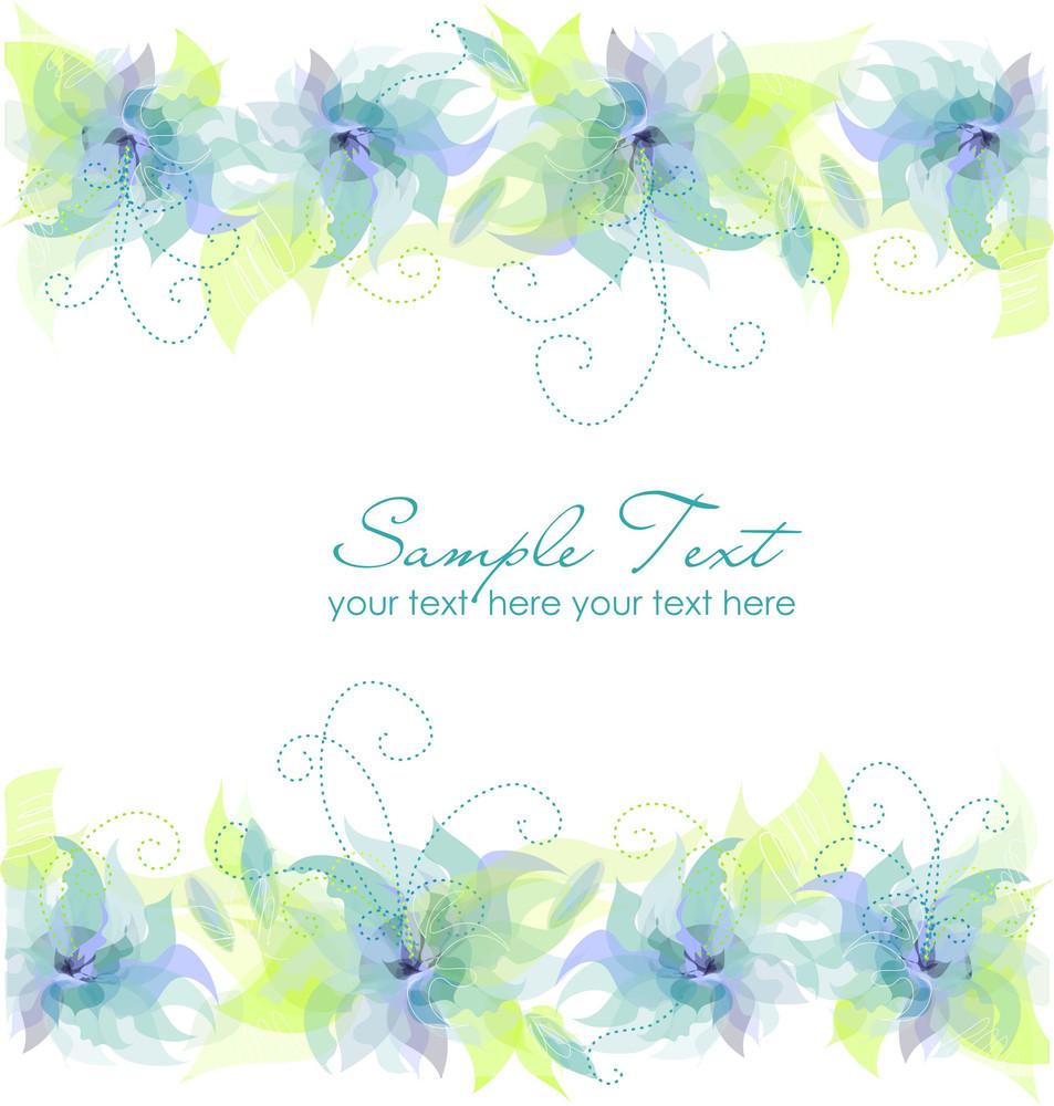 Blue Flower Background-