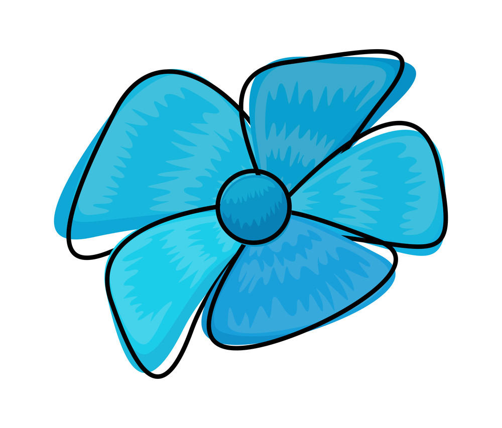 Blue Flower Clipart Royalty Free Stock Image Storyblocks