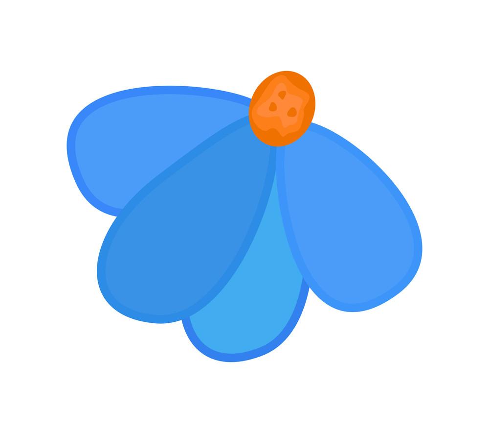 Blue Flower Design