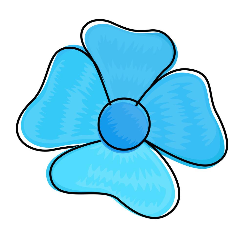 blue flower vector clipart royalty free stock image storyblocks