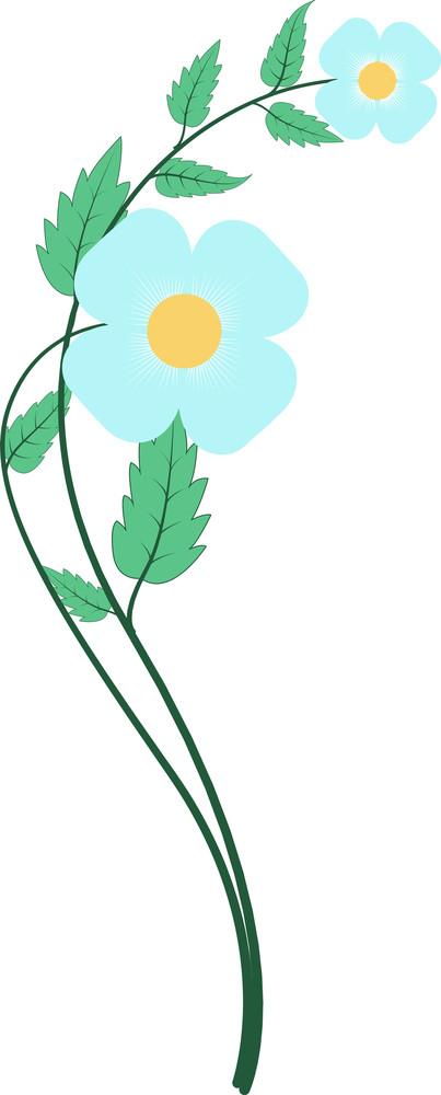 Blue Flower Vector Clipart