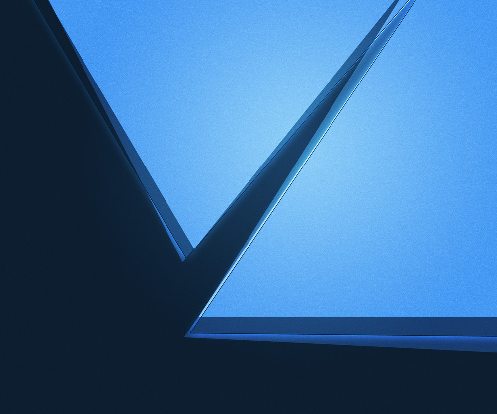 Blue Geometric Abstraction Background