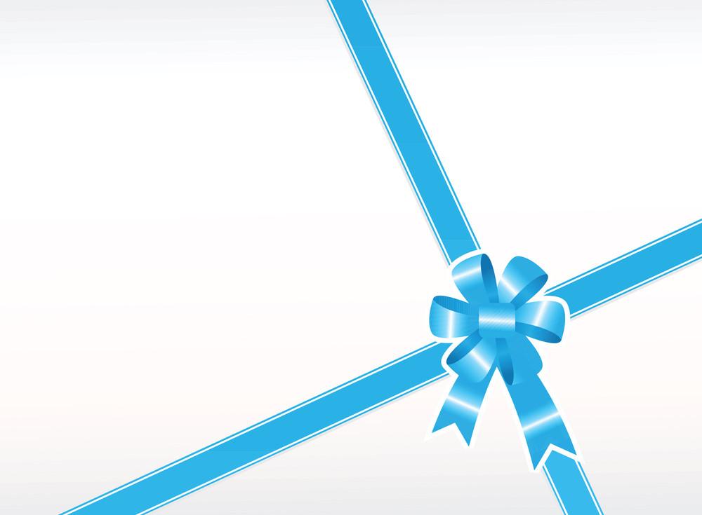 Blue Gift Bow Wallpaper
