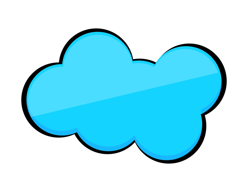 Blue Glossy Cloud