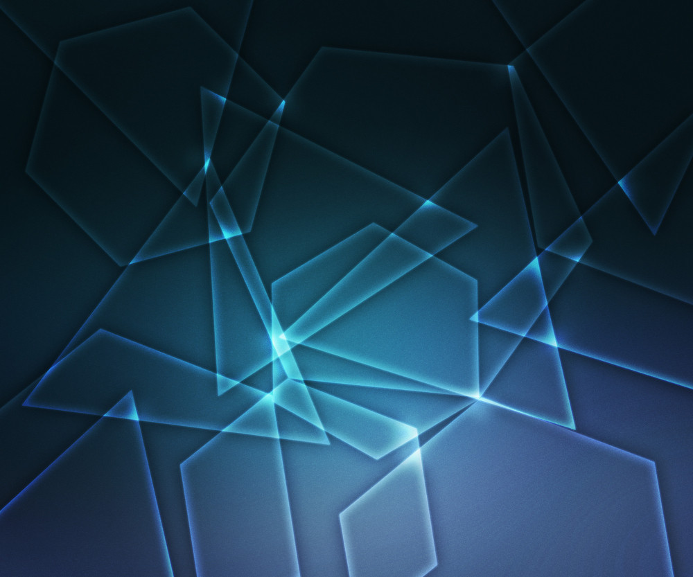 Blue Glowing Abstract Shapes Background