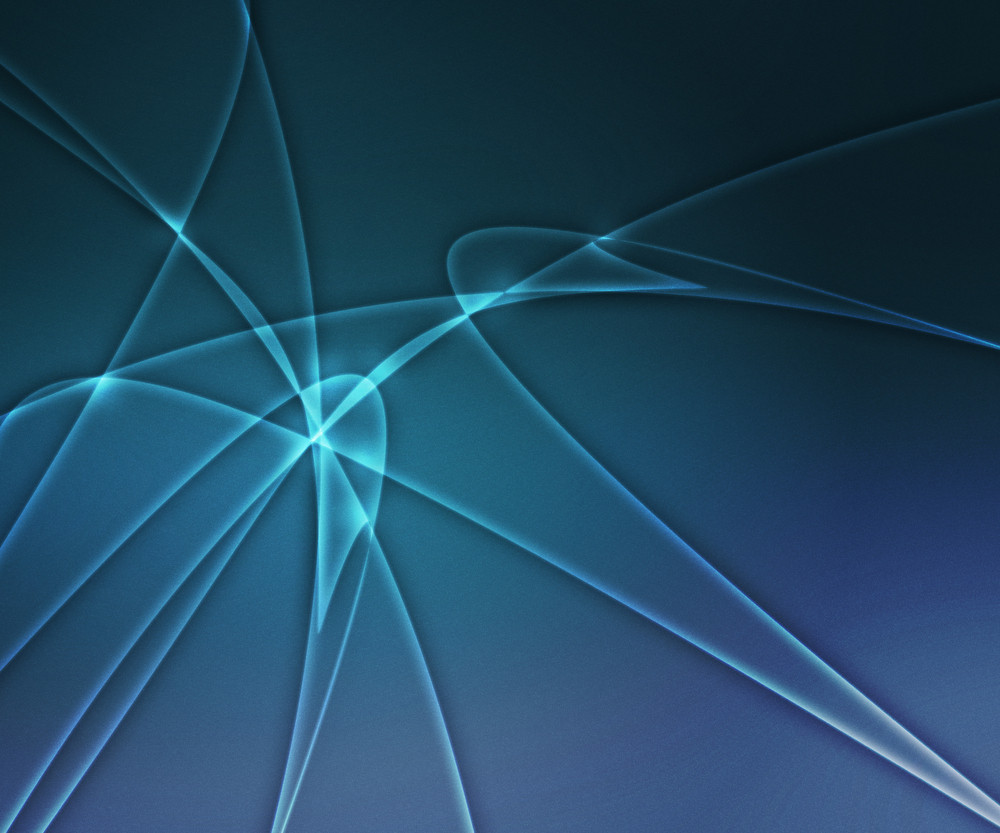 Blue Glowing Shapes Background