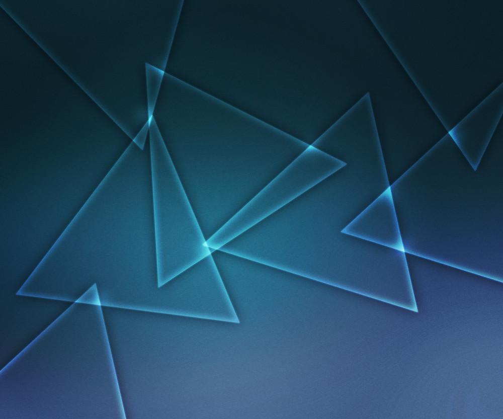 Blue Glowing Triangular Shapes Background