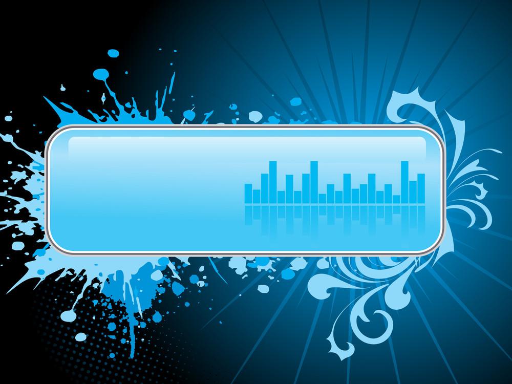 Blue Grungy Artwork Banner