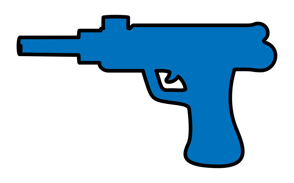 Blue Gun Shape