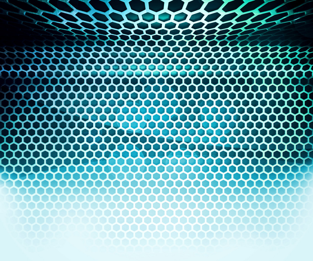 Blue Hex Grid Abstract Background