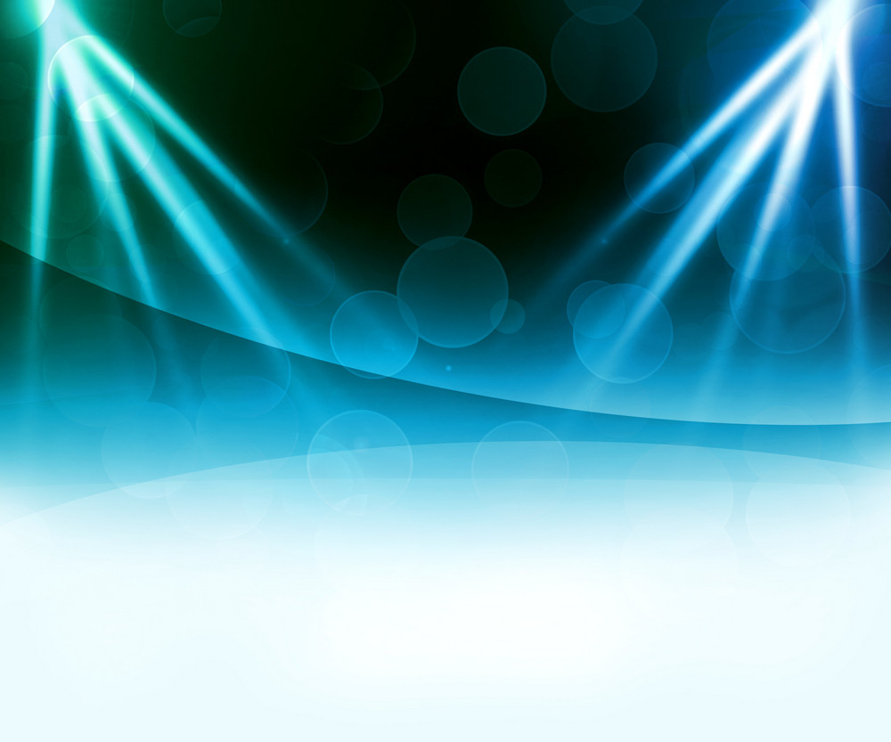 Blue Laser Abstract Background
