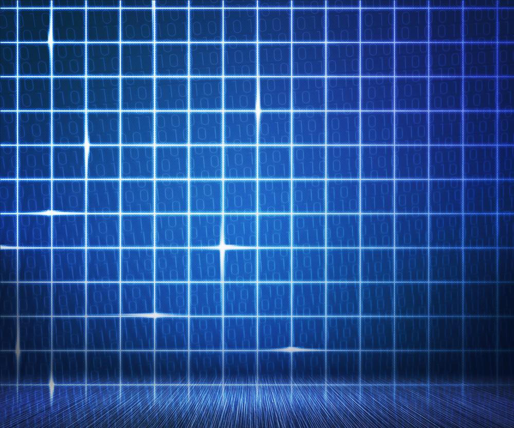 Blue Laser Digital Wall Background