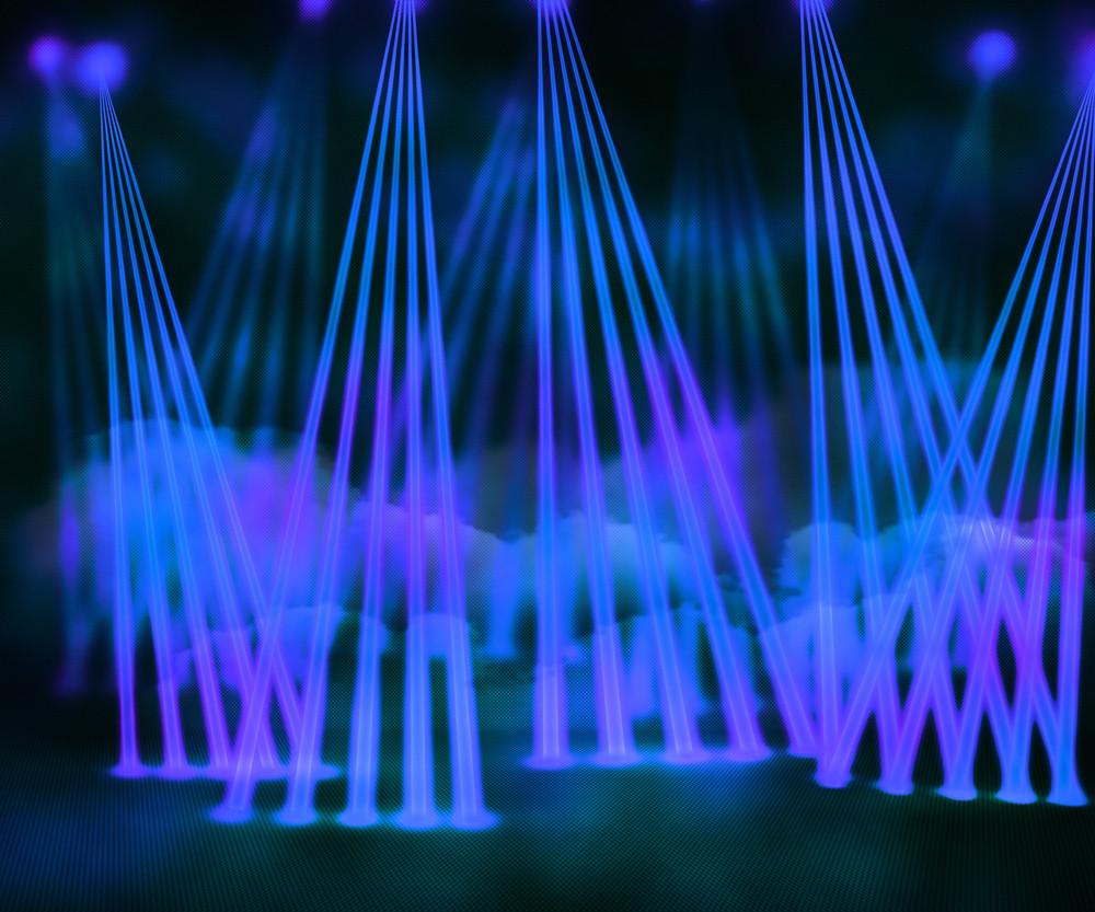 Blue Laser Stage Background