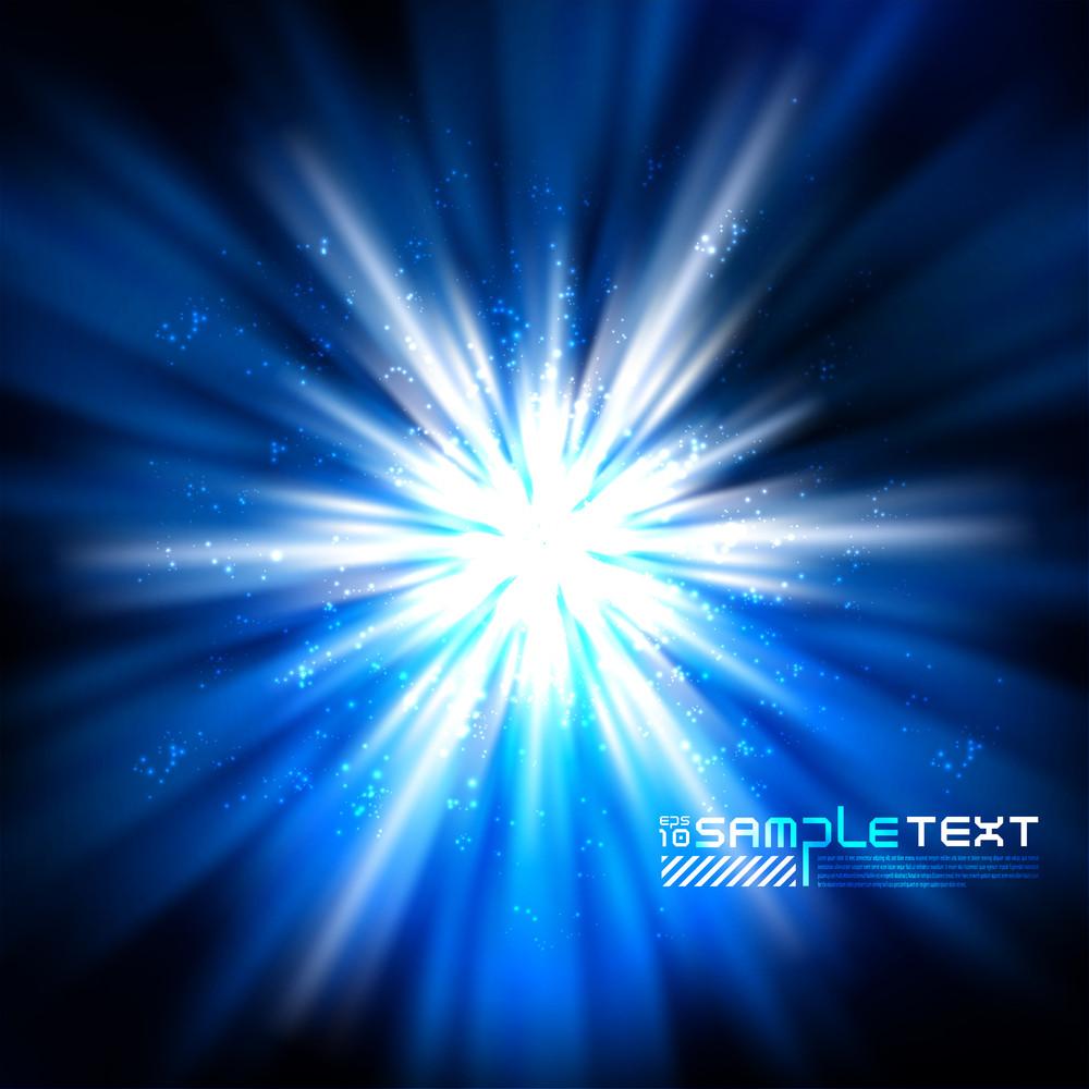 Blue Light Burst