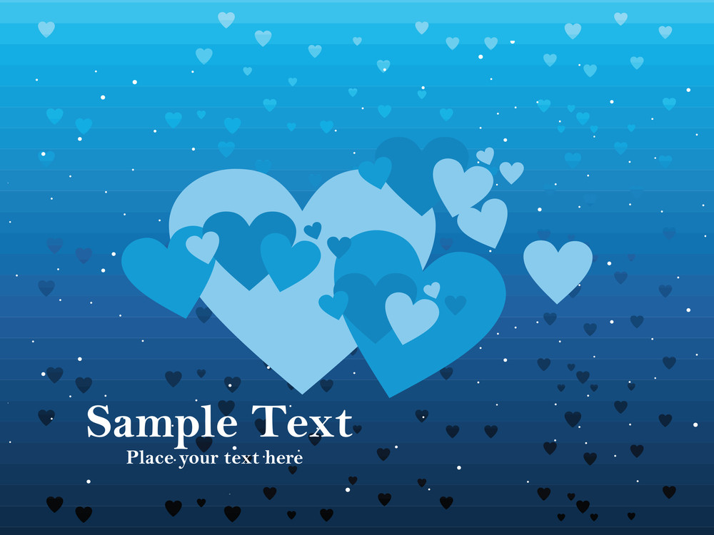 Blue Love Background
