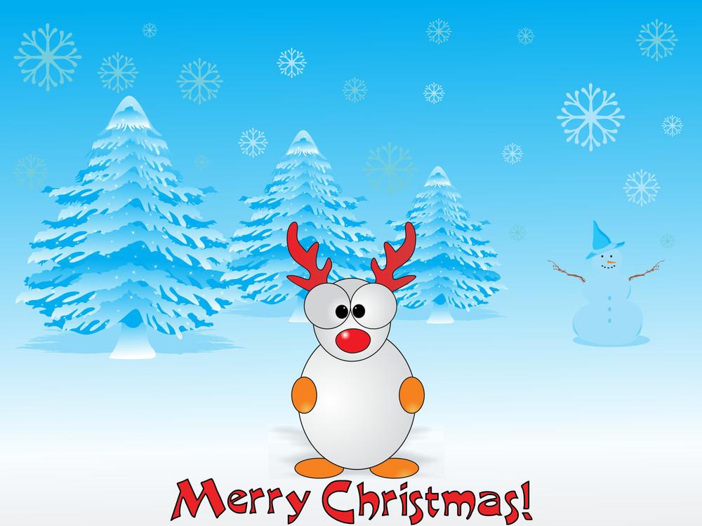 Blue Merry Xmas Day Illustration