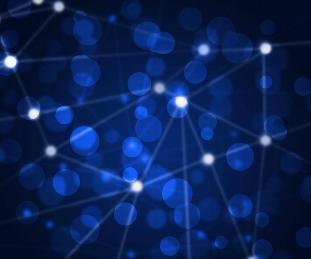 Blue Network Bokeh Texture