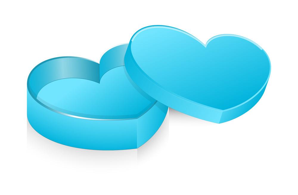 Blue Open Heart Box