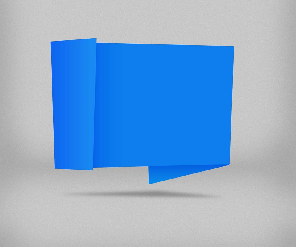 Blue Origami Background