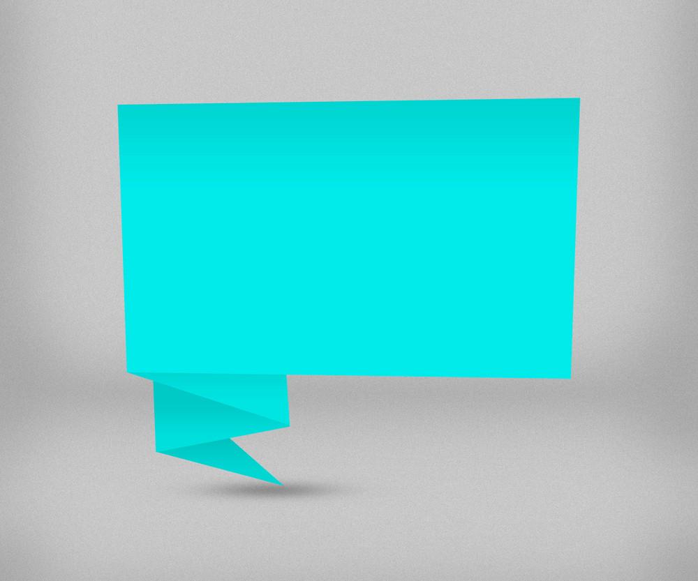 Blue Origami Box Background