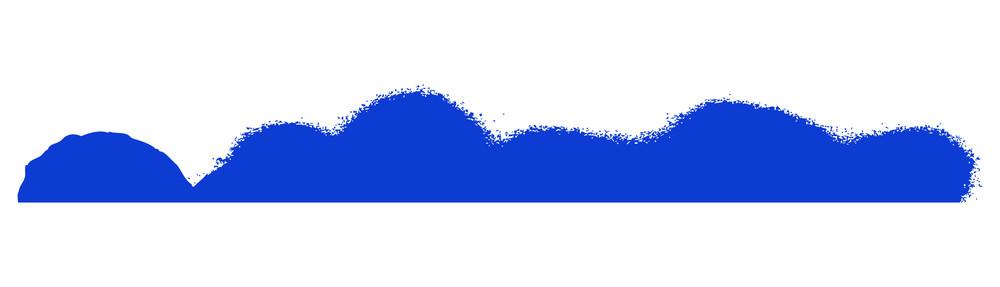 Blue Paint Border