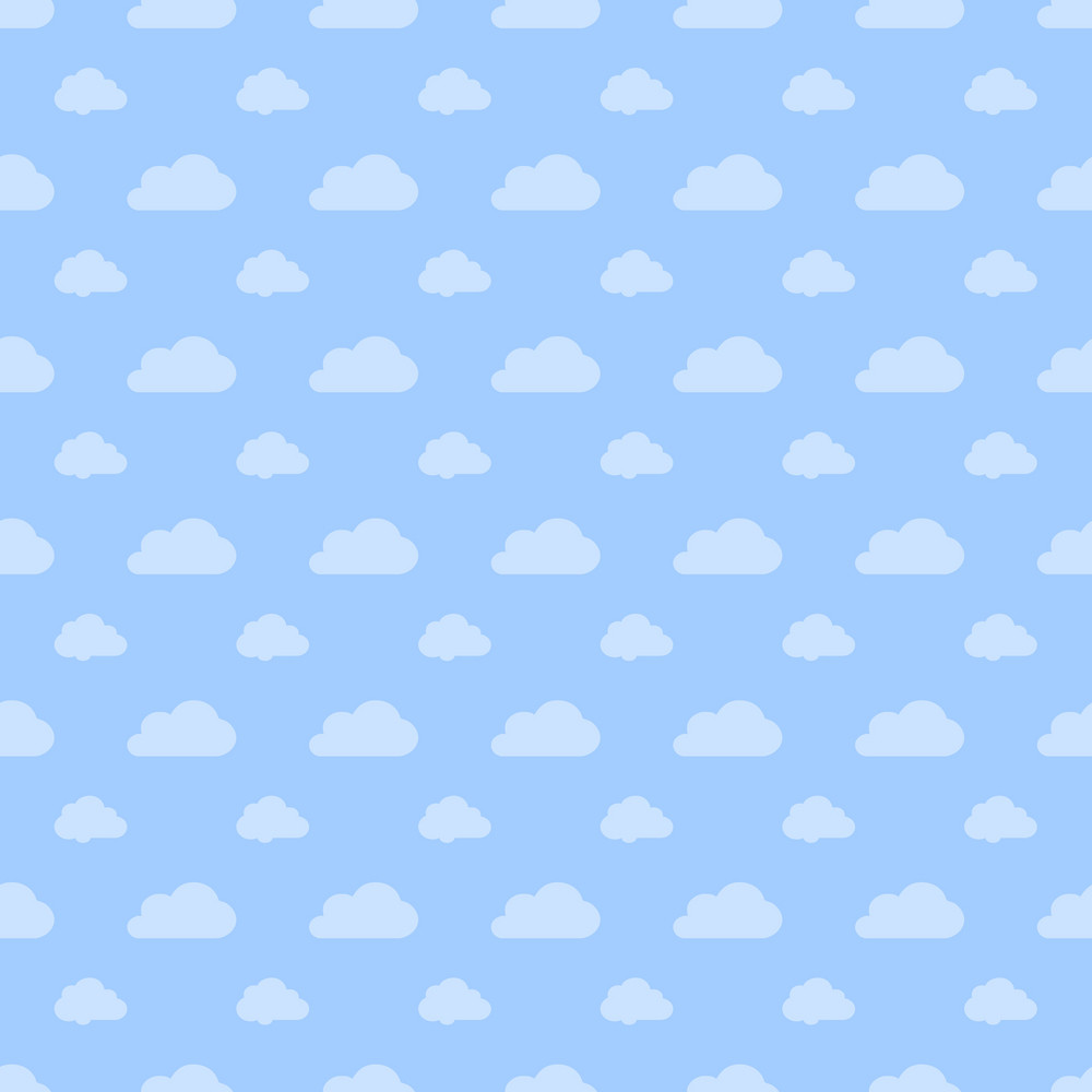 Blue Pastel Cloud Pattern