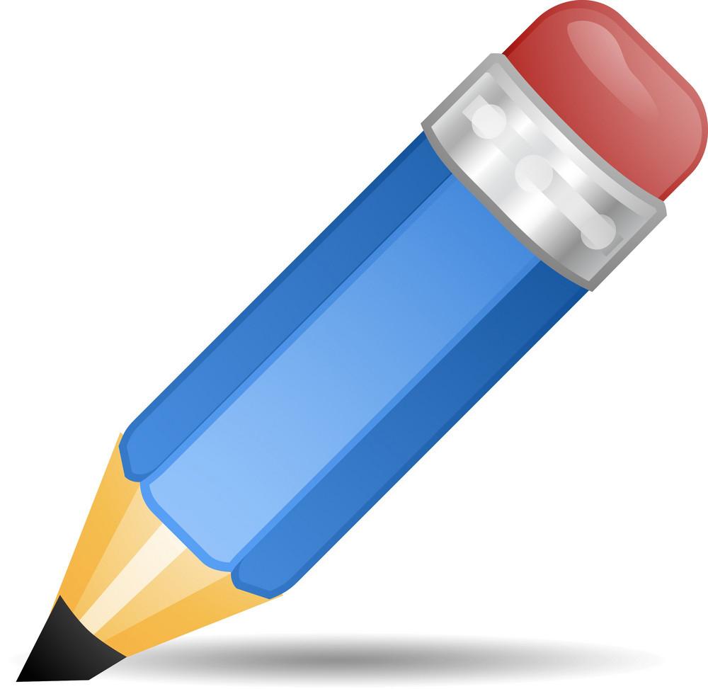 Blue Pencil Lite Art Icon
