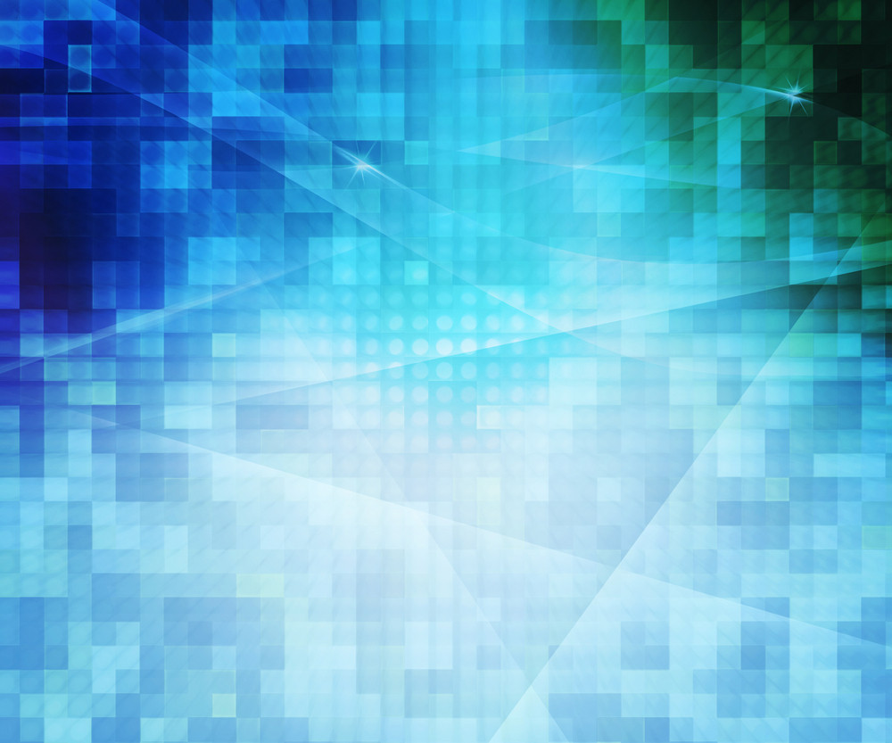Blue Pixels Abstract Background