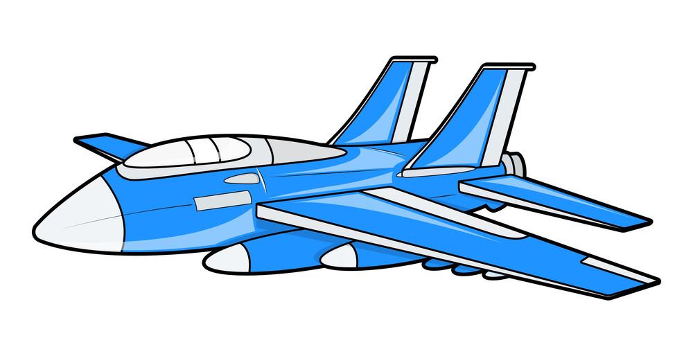Blue Plane Vector