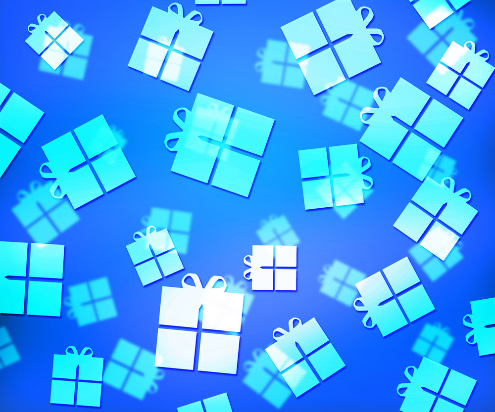 Blue Presents Abstract Background
