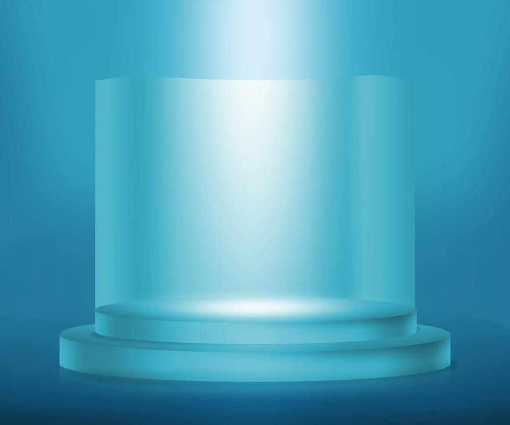 Blue Prize Podium Background