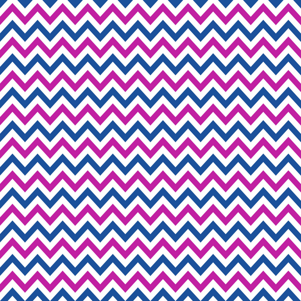 Blue, Purple, And White Chevron Pattern On Frozen Inspired Paper