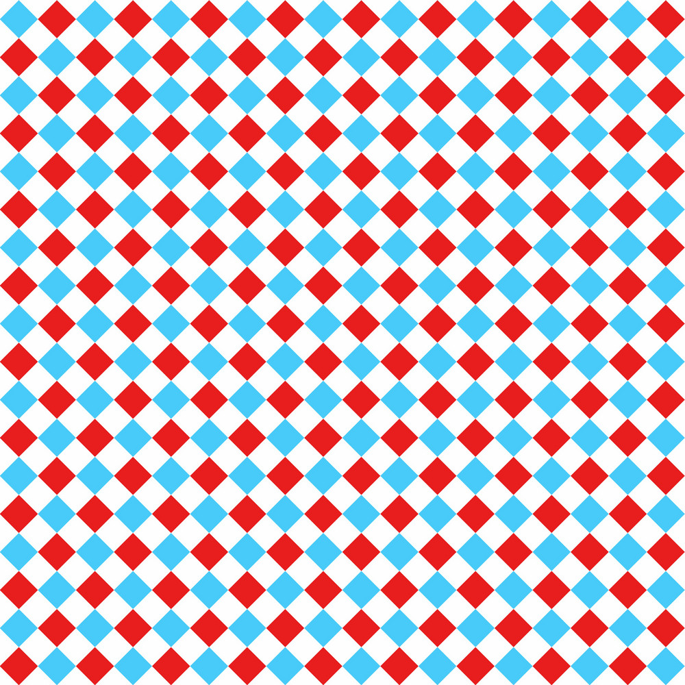 Blue, Red, And White Checkerboard Pattern On Dr. Seuss Paper