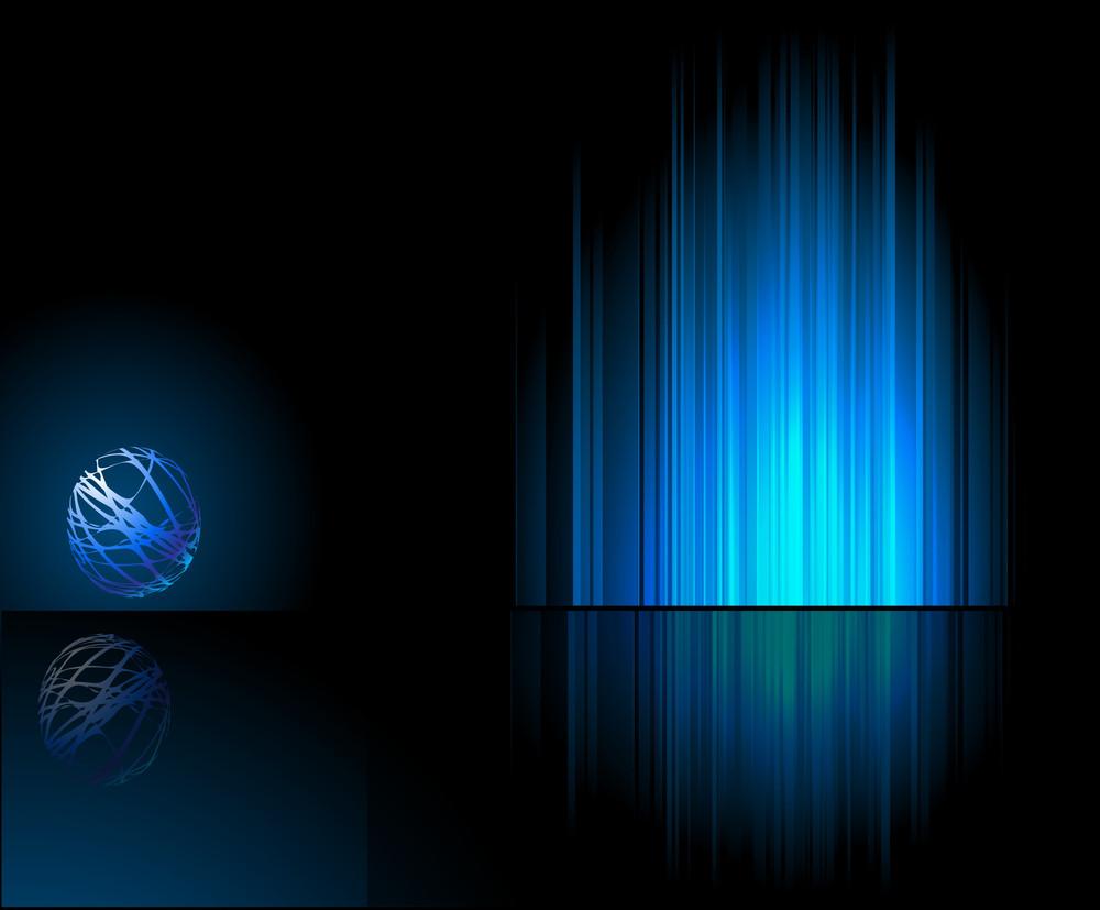 Blue Reflection. Vector.