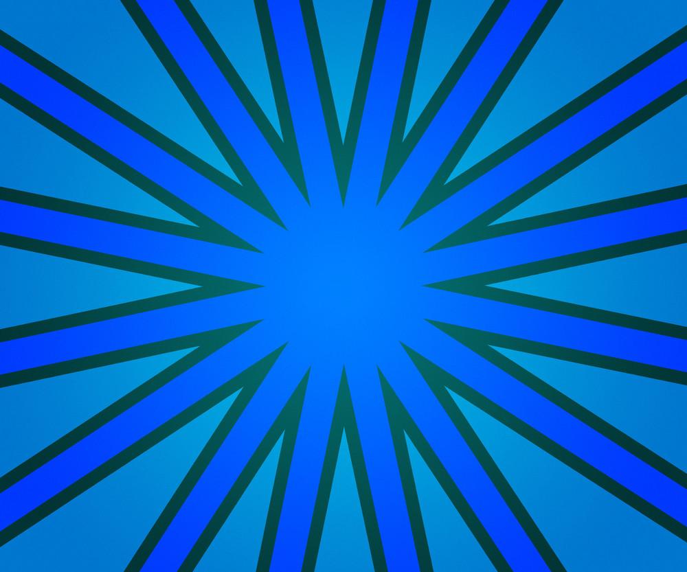 Blue Retro Rays Background