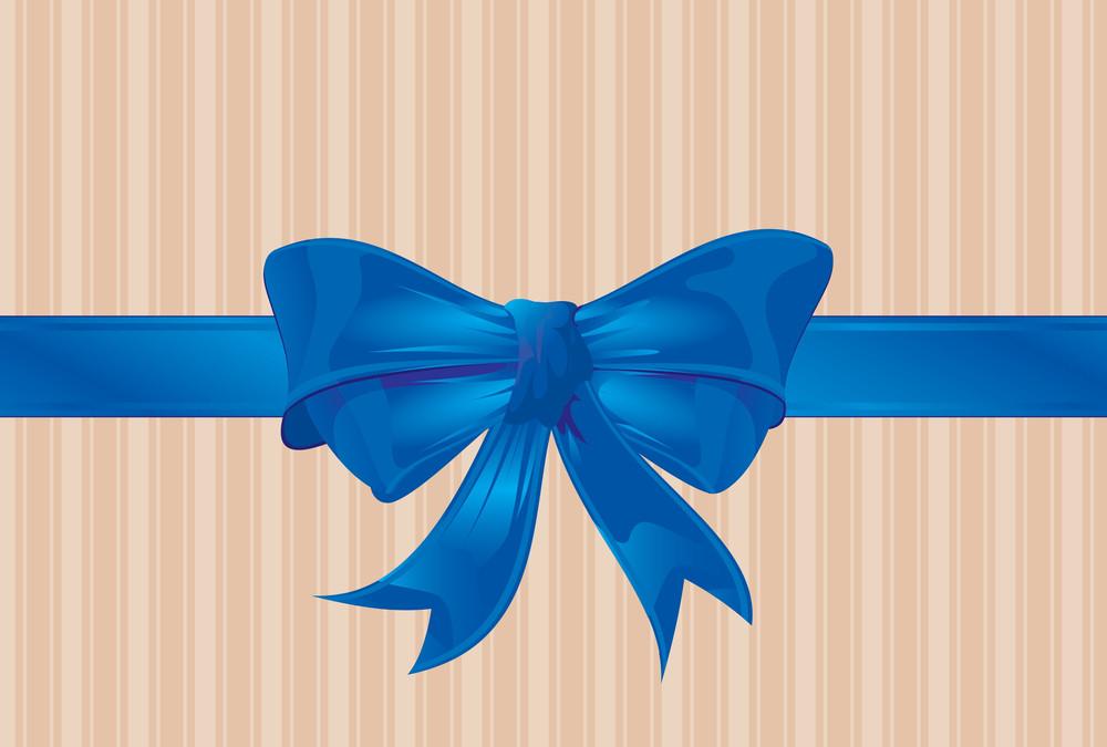 Blue Ribbon. Vector.