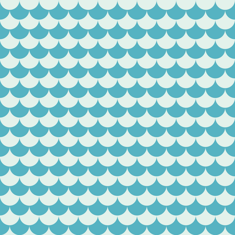 Blue Sea Waves Pattern