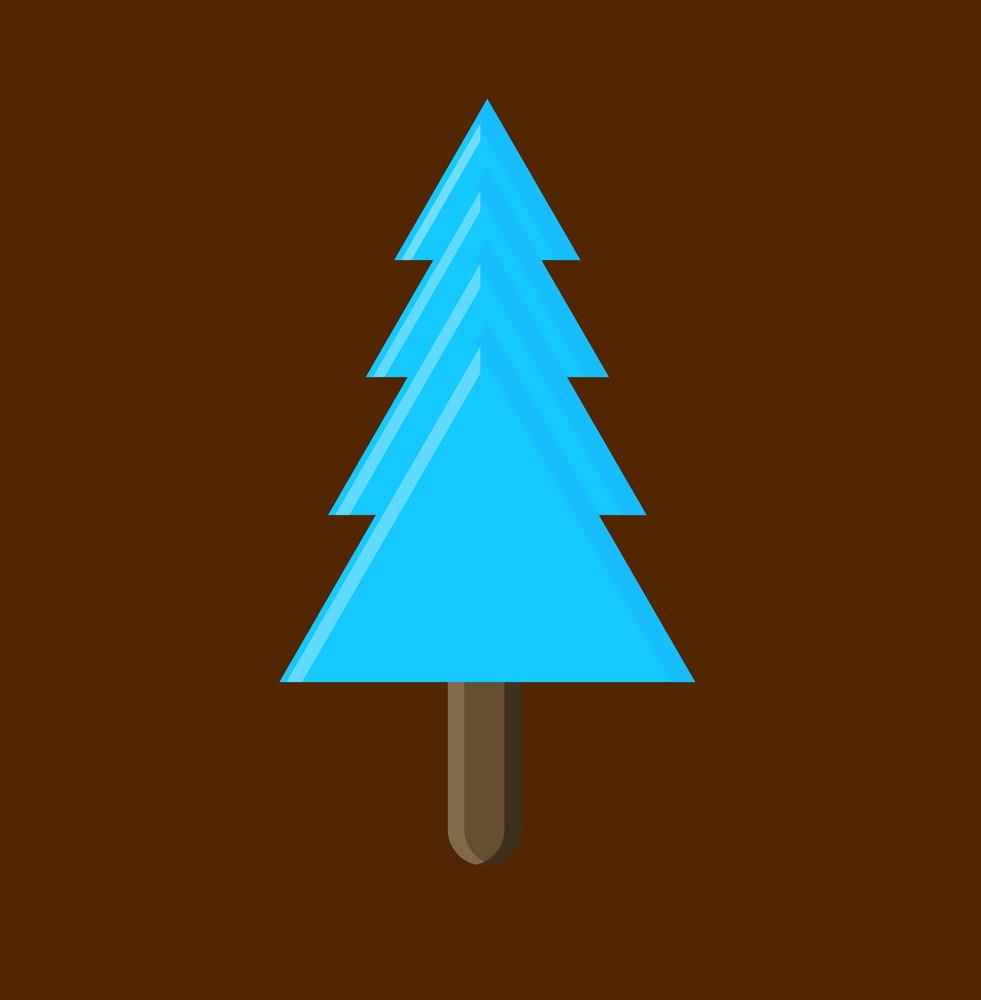 Blue Shape Christmas Tree Vector Design