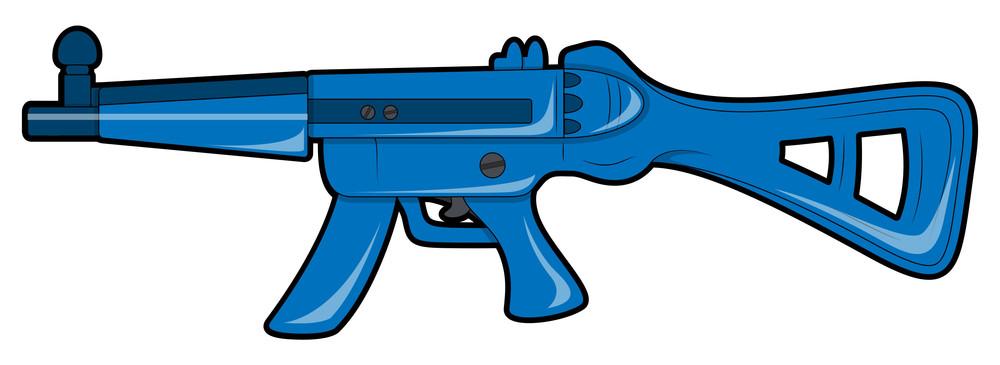 Blue Shooting Gun
